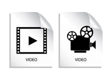 Video file. Icons isolated on white Royalty Free Stock Photos
