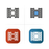 Video film icon. Flat design, linear and color styles.  vector illustrations. Video film icon. Flat design, linear and color styles.  vector illustrations Stock Photography