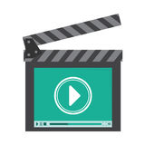 Video or film icon image. Clapperboard video or film icon image vector illustration design Royalty Free Stock Images