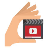 Video or film icon image. Clapperboard video or film icon image vector illustration design Royalty Free Stock Image