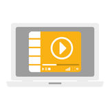 Video or film icon image. Video or film on digital device screen icon image vector illustration design Royalty Free Stock Image