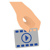 Video or film icon image. Filmstrip video or film icon image  illustration design Stock Images
