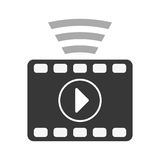Video or film icon image. Filmstrip video or film icon image  illustration design Royalty Free Stock Photos