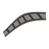 Video or film icon image. Filmstrip video or film icon image vector illustration design Stock Photos