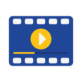 Video or film icon image. Filmstrip video or film icon image vector illustration design Stock Image
