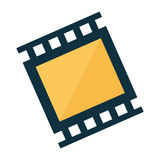 Video or film icon image. Filmstrip video or film icon image vector illustration design Royalty Free Stock Photos