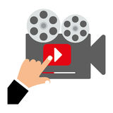 Video or film icon image. Projector video or film icon image vector illustration design Royalty Free Stock Images