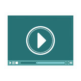 Video or film icon image. Vector illustration design Stock Image