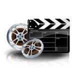 Video filmband met bioskoopklep en filmstrip Royalty-vrije Stock Afbeelding