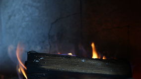 Video of a fireplace Stock Image