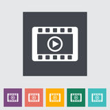 Video flat icon. Vector illustration Royalty Free Stock Images