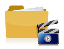 Video folder illustration design Stock Photo