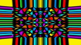 Video fondo con i frammenti multicolori, ornamento dell'estratto senza cuciture del ciclo del caleidoscopio stock footage