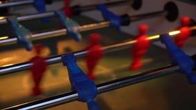 Video foosball table soccer. Football players sport team stock video footage