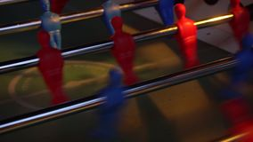 Video foosball table soccer . football players sport teame.  stock video footage