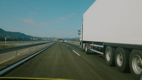 Video footage of driving on a highway in Spain stock footage