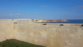 Video fort of Sagres stock video footage