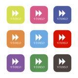 Video forward wind icon. White background. Vector illustration. Video forward wind. White background. Vector illustration Stock Image