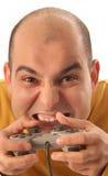 video för lek för konsolkontrollant Fotografering för Bildbyråer