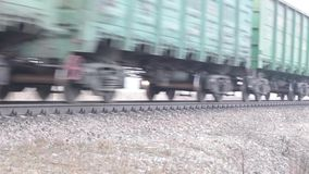 Video of freight train Stock Photo