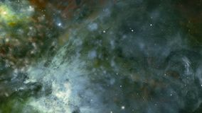 Galaxy and star fields in deep space. Video of galaxy and star fields in deep space stock video