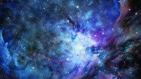 Galaxy and star fields in deep space. Video of galaxy and star fields in deep space stock footage