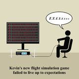Video game. Gamer playing video game at home Vector Illustration