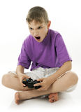 Video game. Boy playing with video game Royalty Free Stock Image