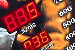 Video game. Screen of a video game in a fairground Royalty Free Stock Photography