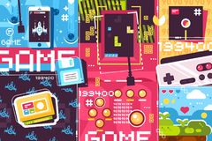 Video game abstract background Royalty Free Stock Image