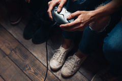 Video game addiction. Excessive play, lifestyle Royalty Free Stock Photography