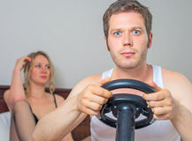 Video game addiction. Stock Photography