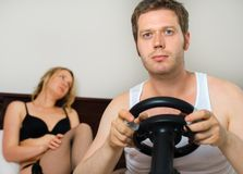 Video game addiction. Stock Images
