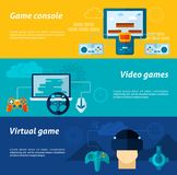 Video Game Banner Set Stock Images