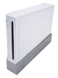 Video Game Console. Home Video Game Console In White Finish Stock Photo
