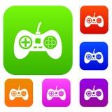 Video game console controller set color collection Stock Photos