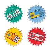 Video game console set Royalty Free Stock Photography