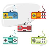 Video game console set Royalty Free Stock Images