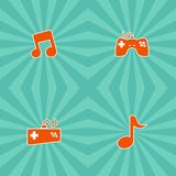 Video game console theme Stock Image