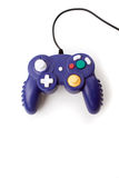 Video Game Controller. A video game controller game pad isolated over white Royalty Free Stock Photography