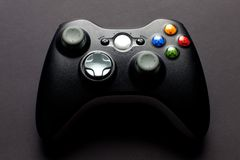 Video game controller. On black background Stock Photo