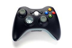 Video game controller. On white background Stock Photos