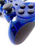 Video game controller. Blue video game controller detail for console Stock Photos