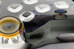 Video game controller close-up Royalty Free Stock Image