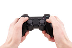 Video game controller in hand isolated Stock Photography