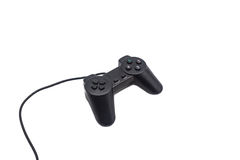 Video game controller isolated on. Video game controller with cord, isolated on white background Stock Image