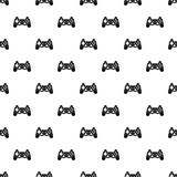 Video game controller pattern, simple style Royalty Free Stock Image