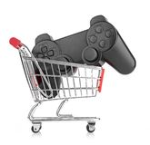 Video game controller in trolley Stock Image