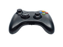 Video game controller on white background Stock Photo