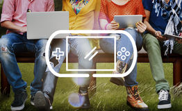 Video Game Controlling Joypad Gaming Concept Royalty Free Stock Photos